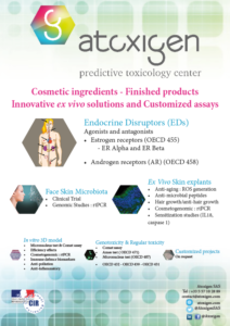 Brochure : Atoxigen offers you services about customized R&D, endocrine disruptors, microbiome, ex vivo skin explants, etc...