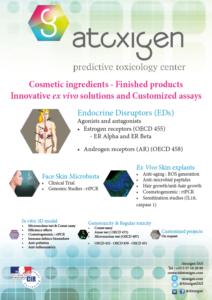 Dans cette brochure, vous trouverez les offres d'Atoxigen : R&D à façon, perturbateurs endocriniens, microbiome ex vivo skin explants, etc...